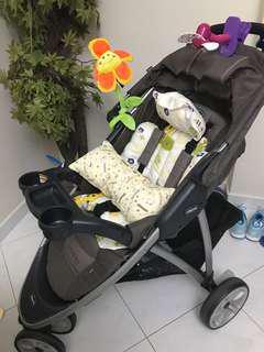 (Pre-Loved) Chicco Viaro Stroller / Pram