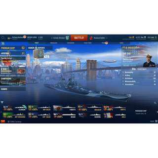 World of Warships account **UPDATED**