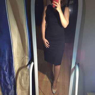 Original Mango Bodycon Black Dress