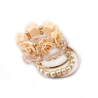 Ivy's Shop 艾薇小館 歐美系列 五條一組 飾品 FOREVER 21 手鍊 手環 手鐲 玫瑰 珍珠