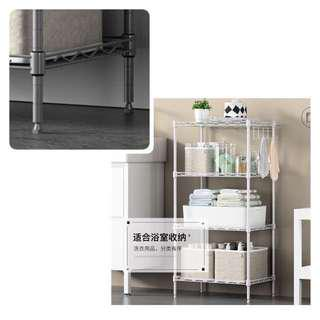 Takes 100kg- WHITE metal rack /cabinet