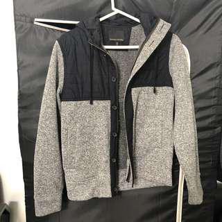Black Grey Banana Republic Jacket