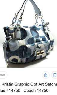 Authentic coach kirstin bag