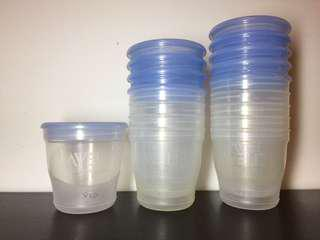 Avent Breast Milk Baby Food Storage Cups with Lids (10's + 10's)