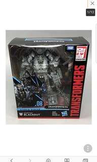 Transformers leader class studio series blackout misb