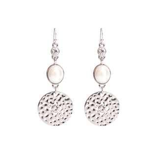 Ivy's Shop 艾薇小館 歐美系列 兩色 飾品 閃鑽 珍珠 耳環 垂吊 垂墜 時尚 清新 復古 合金