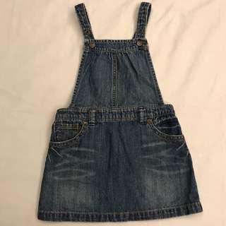 🚚 近全新 Baby GAP牛仔吊帶裙 尺碼90僅穿過一次