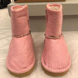 🚚 全新 韓國帶回 粉色雪靴 女童13cm