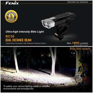 FENIX BC30 1,800 Lumens Dual LED Front Light for Bicycle / Scooter