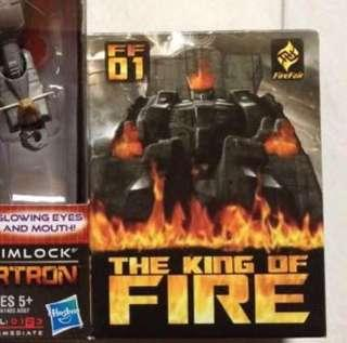 Transformers - King Of Fire Addon For Masterpiece Grimlock (MISB)