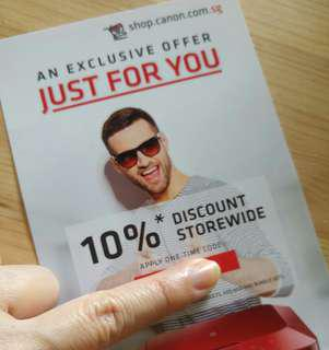 10% Canon Discount Storewide Voucher Coupon