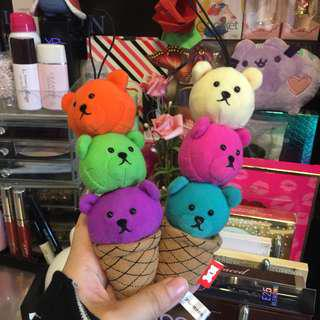 COLORFUL Bear Cone Plushie Charms
