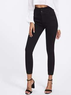 ROMWE Black High-Waisted Jeans