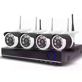 Affordable wireless cctv 4 camera package