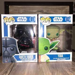 Darth Vader & Yoda Funko Pop Bundle