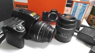 Sony a55相機+50mm1.8+18-55/3.5-55ㄧ機二鏡
