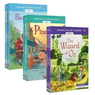 💥NEW- Usborne English Readers Level 1,2,3 (14 books set) - Children story books