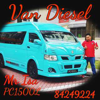 11/13 seater van for Hari Raya booking...