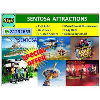 SENTOSA - 4D AdventureLand Butterfly Park & Insect Kingdom  Segway Fun Ride Merlion  Tiger Sky Tower  Trick Eye Museum   Madame Tussauds