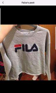 Authentic fila crop top jumper