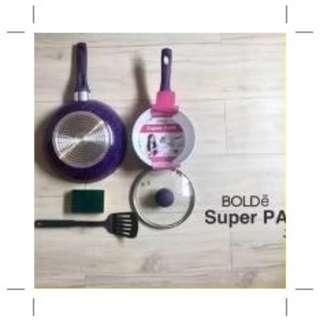 Super pan Purple Panci set keramik Bolde tebal