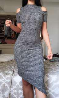 Knit, ribbed dress