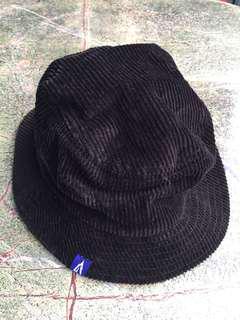 Black corduroy Bucket Hat