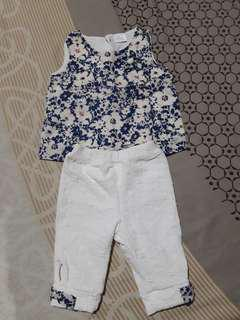 Cute terno for baby girl upto 6 mos