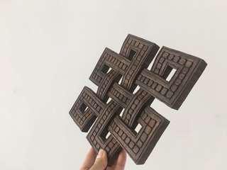 Antique Auspicious Symbol - wooden Nepal