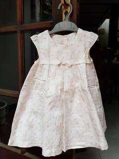 Dress mothercare size 9-12 bln