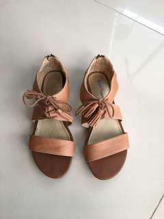 Hush puppies brown lace up sandals