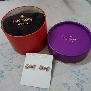 Kate Spade Rose Gold Bow Stud Earring