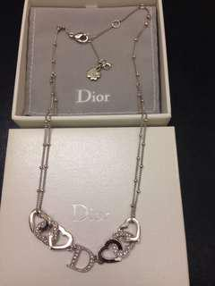 100% Authentic Dior Crystal Necklace極新淨閃石頸鍊
