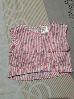 2T toddler cropped top
