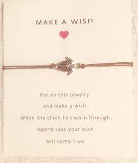 Turtle charm make a wish bracelet , free Postage