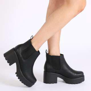 PUBLIC DESIRE Black Ankle Boots