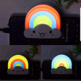 Happy Rainbow Night Light Children Baby Girl Boy Nursery room lighting Decoration