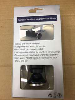 Car backseat headrest magnetic phone holder 汽車磁鐵枕背手機支架