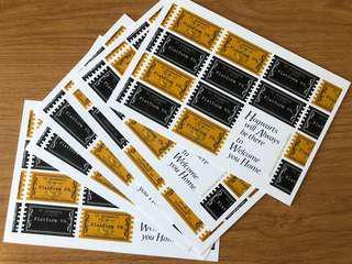 哈利波特 9又4分之3 月台 車票 明信片