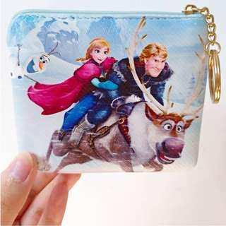 【現貨】frozen冰雪奇緣 艾莎 刷面兒童零錢包/拉鍊式小錢包