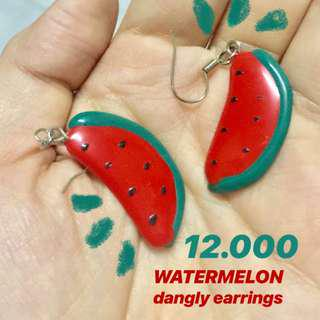 Watermelon Dangly Earrings