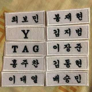 Golden Child Miracle Name Tags [Set]