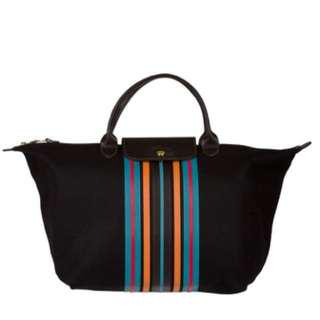 Longchamp 'Le Pliage' Striped Tote Bag
