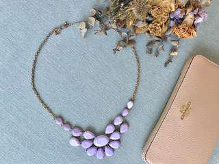 Purple Statement Necklace #mcsfashion