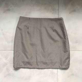Grey Grid/Checkered Skirt