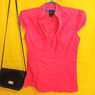 Pink polo-blouse