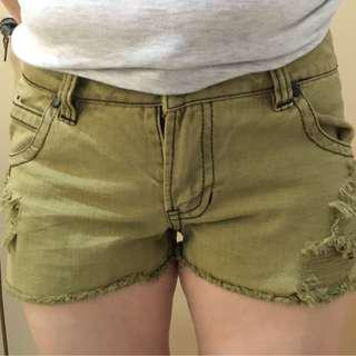 Army Shorts Jeans Color