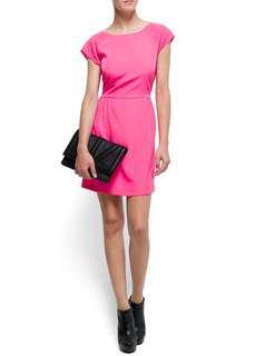 MANGO / MNG Pink Scooped Back Dress #MMAR18