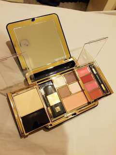 ESTEE LAUDER Powder Eyeshadow Blush Lipstick Compact Makeup Palette with Mirror
