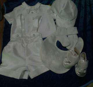 *repriced* Baptismal set for baby boy (0 to 3 months)